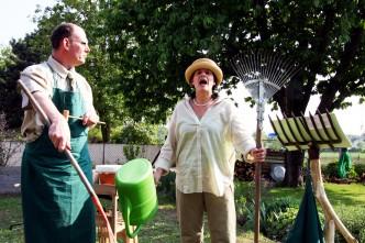 In Beeten und Bäumen, eine Gartenlesung mit Musik